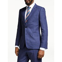 John Lewis and Partners Linen Slim Fit Suit Jacket, Indigo