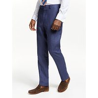 John Lewis and Partners Linen Slim Fit Suit Trousers, Indigo