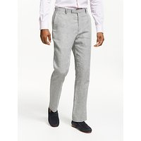 John Lewis and Partners Linen Slim Fit Suit Trousers, Silver
