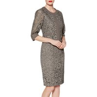 Gina Bacconi Frances Lace Dress, Grey