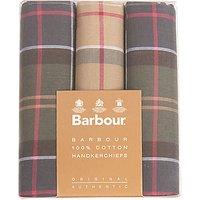 Barbour Boxed Tartan Handkerchiefs, Pack Of 3, Multi