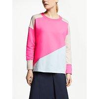 John Lewis & Partners Colour Block Sweatshirt