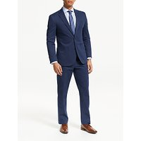John Lewis and Partners Zegna Cotton Cashmere Tailored Suit Trousers, Blue