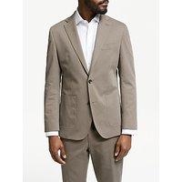 John Lewis and Partners Zegna Cotton Cashmere Tailored Suit Jacket, Mushroom