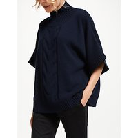 Winser London Audrey Cashmere Cable Jumper, Midnight Navy
