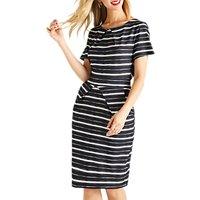 Yumi Striped Tulip Dress, Black