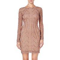 Adrianna Papell Beaded Short Dress, Rose Gold
