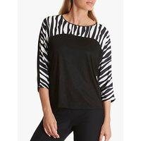 Betty Barclay Zebra Print Top, White/Black