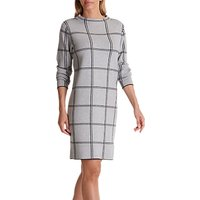 Betty Barclay Check Dress, Silver/Black