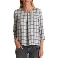 Betty Barclay Check Blouse, Silver/black