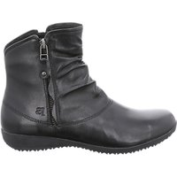 shop for Josef Seibel Naly 24 Wedge Heel Ankle Boots, Black Leather at Shopo