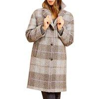 Fenn Wright Manson Petite Brodie Check Coat, Grey