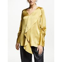 Modern Rarity Hammered Silk Blouse, Gold