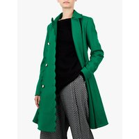 Ted Baker Blarnch Wool Blend Scallop Trim Swing Coat
