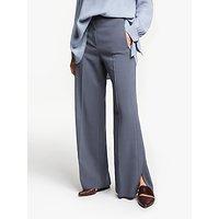 Modern Rarity Side Split Wide Leg Trousers, Blue