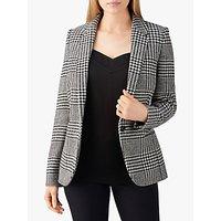 Pure Collection Tailored Blazer, Black/White