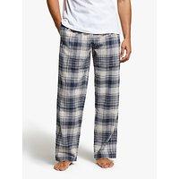 John Lewis & Partners Sonoran Check Brushed Cotton Pyjama Pants, Blue