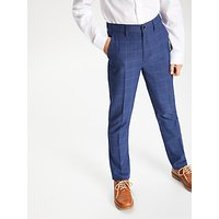John Lewis and Partners Heirloom Collection Boys Overcheck Trousers, Blue