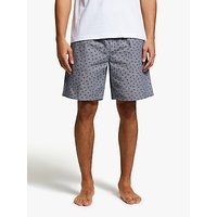 John Lewis & Partners Dragonfly Print Lounge Shorts, Grey