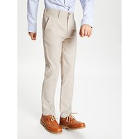 John Lewis and Partners Heirloom Collection Boys Linen Mix Trousers, Beige