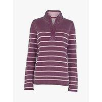 Fat Face Airlie Washed Stripe Sweater, Dark Plum/multi
