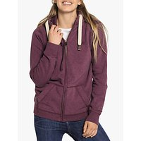 Fat Face Heritage Zip Through Cotton Hoodie, Dark Plum