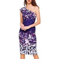 Damsel in a Dress Catalina Floral Asymmetric Dress, Multi