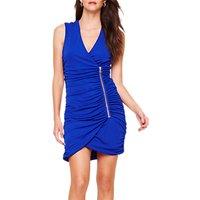 Damsel in a Dress Solene Ruched Zip Dress, Royal Blue