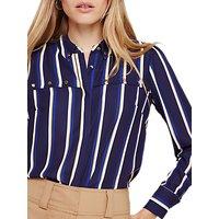 Damsel in a Dress Astrid Stripe Blouse, Navy/Multi