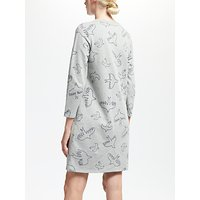 Boden Cotton Sweatshirt Dress, Grey