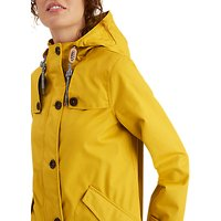 Joules Coastal Waterproof Hooded Coat, Antique Gold