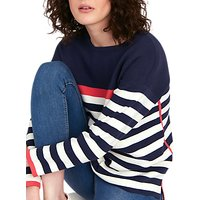 Joules Uma Milano Jumper, Navy/Red/Cream