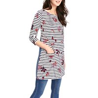 Joules Jade Jersey Woven Mix Tunic Dress, French Navy