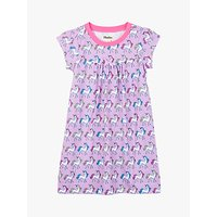 Hatley Girls' Rainbow Unicorns Nightdress, Lilac