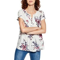 Joules Lucia Short Sleeve Top, Cream Harvest Floral