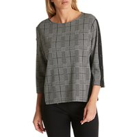 Betty Barclay Houndstooth Check Top, Black/Cream