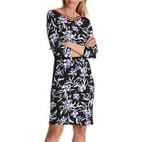 Betty Barclay Sporty Floral Print Jersey Dress,Black/Cream