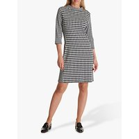 Betty Barclay Houndstooth Print Dress, Black/Cream