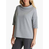 Betty Barclay Cowl Neck Top, Grey Melange