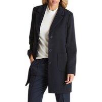 Betty Barclay Lined Pea Coat, Dark Navy