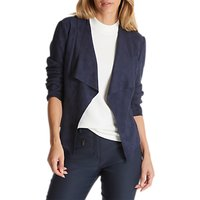 Betty Barclay Faux Suede Waterfall Jacket, Dark Sky