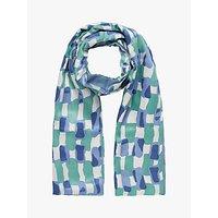 Brora Silk Wool Scarf, Iris/Jade
