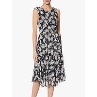 Gina Bacconi Shilah Print Dress, Black/Grey