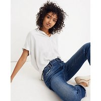 Madewell Central Luis Stripe Shirt, White Wash