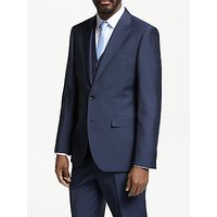 John Lewis and Partners Italian Wool Mohair Tailored Fit Suit Jacket, Blue