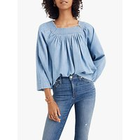 Madewell Denim Square Neck Top, Linville Wash