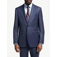 John Lewis and Partners Zegna Wool Tailored Fit Check Suit Jacket, Navy