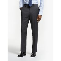 John Lewis and Partners Zegna Wool Tailored Fit Suit Trousers, Charcoal