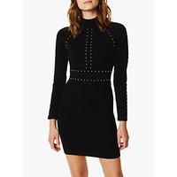 Karen Millen Stud Embellished Bodycon Dress, Black