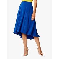 Karen Millen Soft Pleat High-Low Skirt, Blue